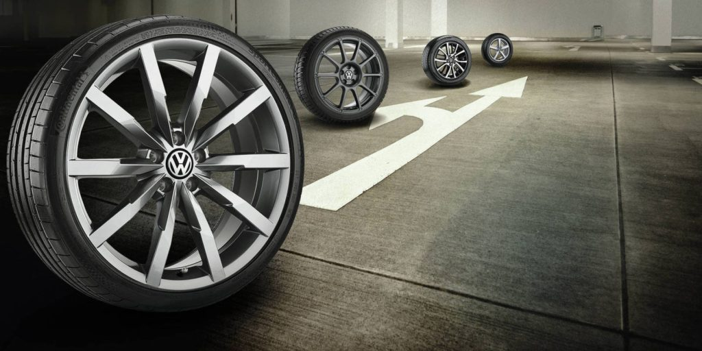 Výprodej originálních zimních kompletů kol Volkswagen